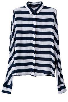 Slouchy Striped Button Down Shirts