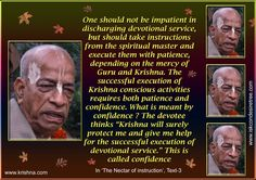 Quotes by Srila Prabhupada on Confidence Spiritual Beliefs, Spiritual Quotes, Spirituality, Full Quote, Srila Prabhupada, Radha Rani, Krishna Quotes, What Is Meant, Radhe Krishna
