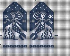 ВЯЗАНИЕ ДЛЯ СУМАСШЕДШИХ Baby Knitting Patterns, Knitted Mittens Pattern, Crochet Mittens, Knitting Charts, Knitted Gloves, Filet Crochet, Knitting Socks, Knitted Christmas Stockings, Christmas Knitting