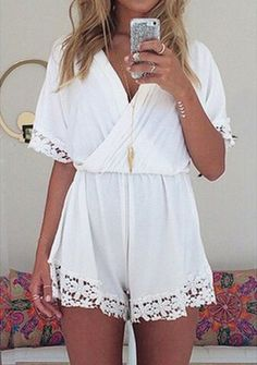 White rompers - beach style