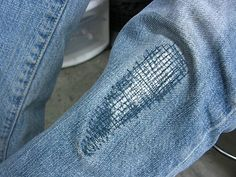 Patching jeans in a cool way