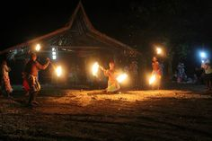 Fire dance performance put on for us in the Solomon's