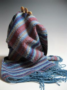 Handwoven Silk and Wool Scarf Appointment at the by mmhaber, $150.00