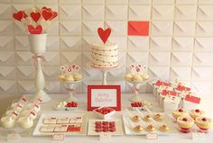 love this valentine party with the envelope backdrop