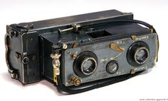 Richard Jules Verascope Stereo Camera, Kodak Camera, Movie Camera, Camera Gear, Antique Cameras, Old Cameras, Vintage Cameras, Radios, Movie Projector