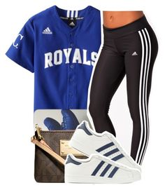 """""""Shoutout:@trillest-Queen"""" by clinne345 ❤ liked on Polyvore featuring Michael Kors and adidas Originals"""