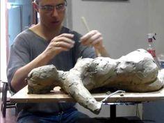 Alfredo Araújo Santoyo Modelado de figura humana en Arcilla. - YouTube