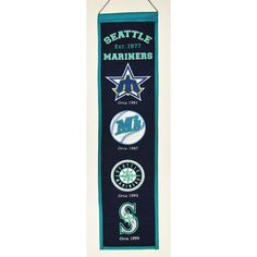 Seattle Mariners MLB Heritage Banner 8 X32