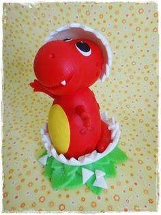 Cris Ubara - Biscuit para festas: Dinossauro decorativo