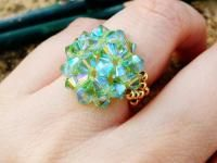 Peridot crystal swarovski shinning ring with gold chiiica beaded jewelry green https://www.kichink.com/buy/797755/chiiica/peridot-swarovski-ring#.VmHrNbiGSko