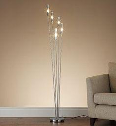 Oscar Smoked Floor Lamp - Marks & Spencer