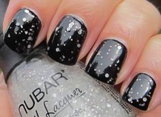 Nubar white Polka Dots over black creme
