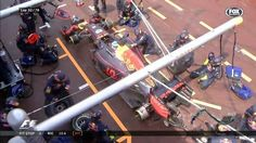 """""""LAP RIC into pits but crew not ready with the tyres & heads out metres behind HAM Daniel Ricciardo, New Drivers, Formula One, Monaco, Racing, Twitter, F1 Season, Ham, Lost"""