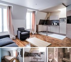 Stylish, cozy, well-furnished 1-bedroom apartment for rent at Rue Laugier in the 17th arrondissement of Paris. This is a good accommodation option in a quiet neighborhood of the French capital near Parc Monceau - a popular recreation area among Parisians and visitors as well. 1800 € / month