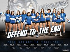 Photography and poster design created for the 2016 Grandview volleyball team. Copyright 2016 Matt Daniels Photography