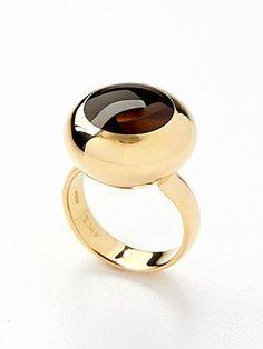 Tito Pedrini Blair Smokey Quartz Ring #goldrings #goldringsjewelry #ringdesign #anillos #uniquejewelry #fashionjewelry #contemporaryjewelry #jewelryinspiration