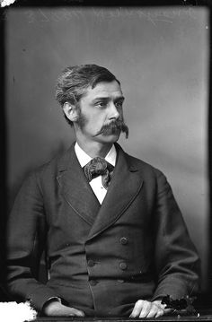 Now that's a mustache! Mr. Armstrong, Ottawa, Canada, January 1881. #Victorian #Canada #portraits #men #Movember