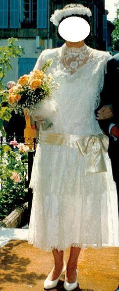 Robe de mariée style années 30