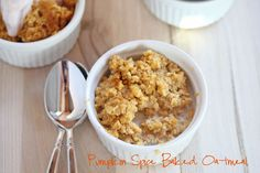 Pumpkin Spice Baked Oatmeal {with Gluten Free variation!}