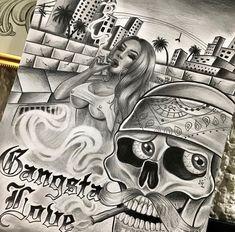 Tattoo Design Drawings, Tattoo Sketches, Art Drawings, Bone Hand Tattoo, Evil Skull Tattoo, Chicano Art Tattoos, Graffiti Lettering Fonts, Mexican Tattoo, Cholo Art