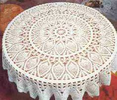 Hermoso mantel de piñas tejido a crochet con patrón gratis Mantel tejido a ganchillo paso a paso OjoconelArte.cl  