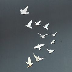 Flying Birds Mirror Wall Decal Wall Sticker by EasyWallDecals