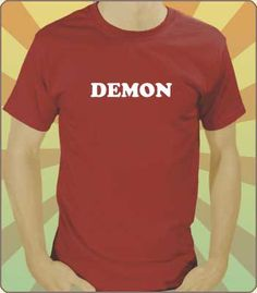 Image of Demon Text Costume T-Shirt