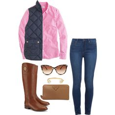 tory burch riding boots by mcgeemaddie on Polyvore featuring J.Crew, Paige Denim, Tory Burch, Prada, Lizzie Fortunato and STELLA McCARTNEY
