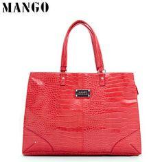 Mango Women Bag Red Croco Handbag - Blue Products- - TopBuy.com.au