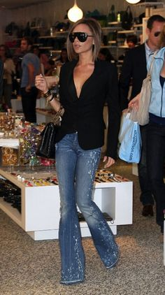 A boot cut denim......remember to do it with a heel.......no flats