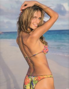 Young & beautiful!  Sport's Illustrated US, 1999  Model : Heidi Klum