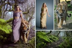 Stunning photo manipulations in Photoshop. Fairy digital art from common images