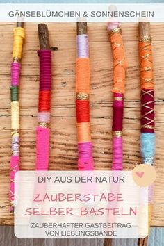 Magische Zauberstäbe selber basteln – DIY Making magic wands yourself – DIY Upcycled Crafts, Cute Diy Crafts, Upcycled Home Decor, Upcycled Furniture, Repurposed, Diy For Kids, Crafts For Kids, Arts And Crafts, Cross My Fingers