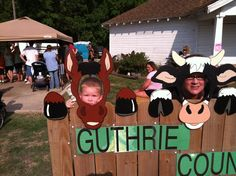Ridge is th horse of course, gma is the cow,lol