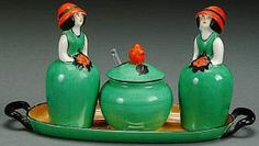 1925 Four Piece Condiment Set