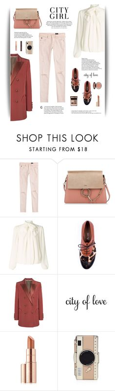 """""""City Girl"""" by cara-mia-mon-cher ❤ liked on Polyvore featuring AG Adriano Goldschmied, Chloé, Somerset by Alice Temperley, Blazé Milano, H&M, WALL, Estée Lauder, Kate Spade and Charlotte Tilbury"""