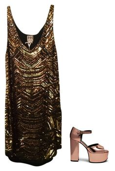 """""""In My Own Little Corner"""" by brooklynbeatz ❤ liked on Polyvore featuring Haute Hippie, Mulberry, music, cinderella, musicinspired, outfitonly and metallicdress"""