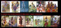 """I Seminole derivano dai membri della confederazione Creek e dei Chickasaw che nel XVIII secolo emigrarono in Florida. A queste prime comunità di profughi, """"popolo in movimento"""" (tale è il significato di """"seminole"""" in creek), si integrarono successivamente altre tribù minori e gruppi di schiavi neri fuggitivi, dando vita ad una delle più combattive confederazioni indiane del Nord America. I loro caratteristici abiti sono la naturale evoluzione dell'abbigliamento dellev popolazioni del sudest"""