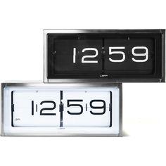 LEFF Amsterdam Brick Wall/Desk Clock | Stainless Steel/Black