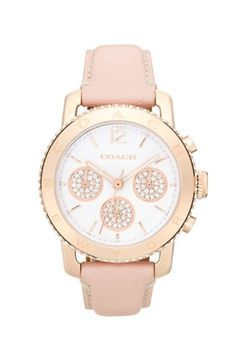 COACH 'Legacy Sport' Leather Strap Watch, 36mm | Nordstrom