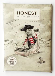 Honest Chocolate packaging - illustration by Toby Newsome : ) mmm chocolate PD