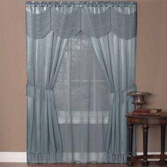 "Halley ""Window in a Bag"" Complete 5 Piece One-Rod Set - Walmart.com"