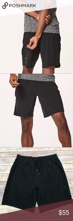 "d368820854 Lululemon Pace Breaker 9"" Lined Shorts Large Lululemon Black Pace Breaker 9""  Lined Shorts"
