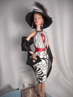 *Nite and Day* Barbie Silkstone FR Repro Vintage Fashion Handmade OOAK Mary    #Unbranded