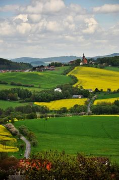 Countryside church, Czech Republic, photograph by Hedvika Reichlova. Prague Czech Republic, Seen, Places To See, Countryside, Travel Inspiration, Beautiful Places, Scenery, Travel Destinations, Around The Worlds