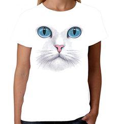 Velocitee Ladies Vest Cat Face Moods Cats Feline Friend A20656