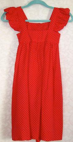 Vintage Handmade Girls Polka Dot Dress Pinafore by MoonpieVintage