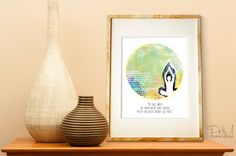 Poster Print 8x10  Yoga Mind  For Your Wall by PomGraphicDesign, $17.00