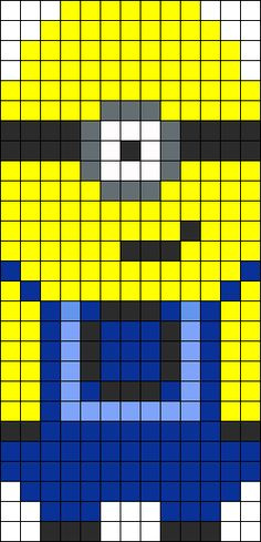 Despicable Me bead pattern; could also be used as a plastic canvas cross-stitch pattern