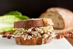 Sonoma Chicken Salad Sandwiches -- except for the cranberries, it sounds awesome. No fruit in my chicken salad please.